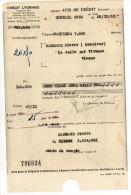 1951--CORBEIL-91---Crédit Lyonnais  --Avis De Crédit  ...par Virement - Bank & Insurance