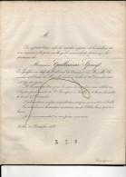 SPRUYT Guillaume °1779+ 24/12/1858 Ixelles Greffier Tribunal Commerce Bruxelles époux De BAY HANSSENS - Todesanzeige