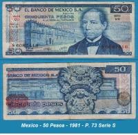 Mexico - 50 Pesos - 1981 - P. 73 Serie S - Mexique