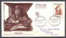 France FDC Enveloppe Premier Jour YT N°1135 Rembrandt - FDC