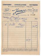 1953--PARIS 15°--Confiserie-Chocolaterie-Patisserie  JANCO--Super Plum--Macarons-pâte D'amandes - Food