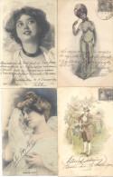 COLECCION DE POSTALES DE LA ARISTOCRATA TERRATENIENTE LAURA L. ARECHAVALETA PARTE 1 TODAS CIRCULADAS Y FIRMADAS - Postkaarten