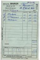 1953--PARIS 15°--Biscuits HANIN (macarons)---facture - Food