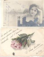 COLECCION DE POSTALES DE LA ARISTOCRATA TERRATENIENTE LAURA L. ARECHAVALETA PARTE 3 TODAS CIRCULADAS Y FIRMADAS - Postkaarten