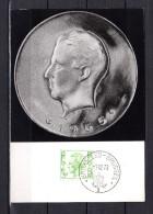 """Carte Maximum De 1974 """" ROI BAUDOUIN 1er """". N° YT 1717.  Parfait état. CM - Cartes-maximum (CM)"""