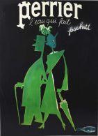 Postcard - Poster Reproduction - Perrier L´eau Qui Fait Pschitt 1965 (P) - Publicité