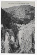(RECTO / VERSO) ENVIRONS DE TOURNON EN 1913 - N° 342 - LES CUVES DE DUZON - CPA  VOYAGEE - Tournon