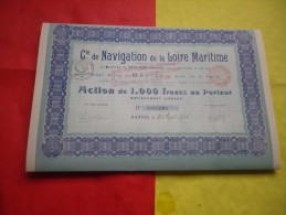Cie DE NAVIGATION DE LA LOIRE MARITIME (capital 0,8 Million Porté 1,3 Million) Nantes,loire Atlantique - Unclassified