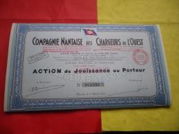 COMPAGNIE NANTAISE DES CHARGEURS DE L´OUEST (jouissance Modifiée En 500 Francs) Nantes - Unclassified