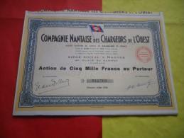COMPAGNIE NANTAISE DES CHARGEURS DE L´OUEST (5000 Francs) Nantes - Unclassified