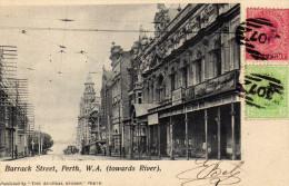 Perth ...Australie Barrack Street Avant 1905...timbrée Oblitération Philatélie - Other