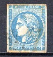 5/ France  : N° 45 C Bordeaux Oblitéré  , Cote : 70,00 € , Disperse Belle Collection ! - 1870 Emission De Bordeaux