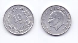 Turkey 10 Lira 1985 - Turquie