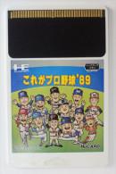 PC Engine Hu Card : Kore Ga Pro Yakyuu´89 - Electronic Games