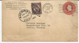 PERFIN  USA-- For Berlin Germany --- 19-06-1929-   STORIA POSTALE- - America Centrale