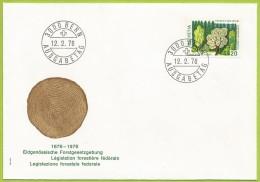 Suisse 1976 999 FDC Paysage Forestier Arbres - Bäume