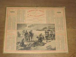CALENDRIER DES POSTES - PTT - 1904 - PLAGE DE ROCHEBONNE - HAUTE-MARNE (carton + 2 Feuilles)  ) - Kalender