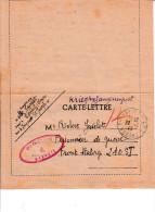 "Corr. FRONT STALAG 210 Cachet Rouge Recto ""Strasburg 2""-Aumônier R.JAVELET N°57_ 22 Octobre1940 Stalag 210 - 1939-45"