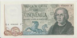 ITALY P. 102b 5000 L 1973 AUNC - 5000 Lire