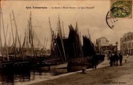 29-CONCARNEAU..LE BASSIN A MAREE HAUTE..LE QUAI PENEROFF....CPA ANIMEE - Concarneau