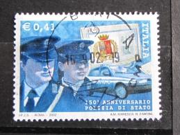 ITALIA USATI 2002 - LE ISTITUZIONI POLIZIA DI STATO - SASSONE 2618 - RIF. G 2129 - LUSSO - 6. 1946-.. Repubblica