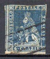 5/ Italie Toscane  : N° 7  Oblitéré  , Cote : 85,00 € , Disperse Belle Collection ! - Toskana