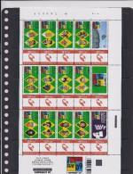 BELGIQUE - BELGIE Mijn Zegel - Volledig Vel Van 15 Postzegels  LE LOMBARD - Kuifje, Blake En Mortimer, Enz... - Belgique