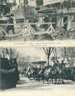 2 CPA 83 TOULON CATASTROPHE IENA THOMSON MINISTRE MARINE + DEFILE - Toulon