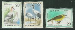Japon // Japan// Nippon//1974// Protection De La Nature Yvert & Tellier No.1137+1138+1165 ** - Nuovi