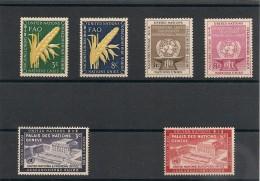 NATIONS UNIES NEW YORK Année Complète 1954 N° Y/T: 23/28** Côte: 37,30 € - New York -  VN Hauptquartier