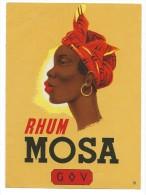 "Etiquette De Rhum/Chromo//""MOSA""/Galibert & Varon/ GOV/ Bordeaux /Le Havre//Vers 1910-1920  ETIQ53 - Rhum"