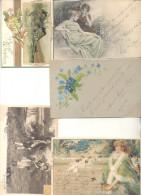 COLECCION DE POSTALES DE LA ARISTOCRATA TERRATENIENTE LAURA L. ARECHAVALETA PARTE 4 TODAS CIRCULADAS Y FIRMADAS - Postkaarten