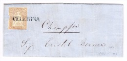 Heimat GR ENGADIN - CELERINA Stabstempel 5Rp. Strubel Auf Brief Nach Champfer - Lettres & Documents