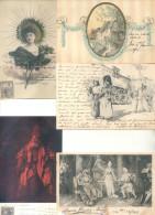 COLECCION DE POSTALES DE LA ARISTOCRATA TERRATENIENTE LAURA L. ARECHAVALETA PARTE 5 TODAS CIRCULADAS Y FIRMADAS - Postkaarten