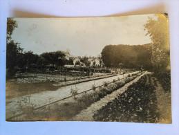 91 CORBEIL CARTE PHOTO Jardins En 1918 - Corbeil Essonnes