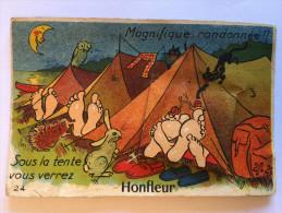 14 HONFLEUR CARTE  A SYSTEME  10 Vues En CPA Sous Les Pieds 1953 + Cachet Triangulaire T Taxe - Honfleur