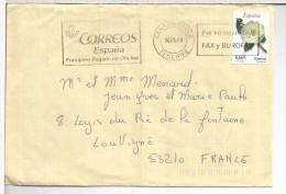 CANARIAS SANTA URSULA TENERIFE CC SELLO FLOR MAT RODILLO FAX BUROFAX TELECOMUNICACIONES - Telecom