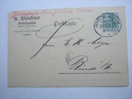 1911 , HOLZHAUSEN ,  Firmenvordruckkarte Verschickt  Bahnpost - Brieven En Documenten