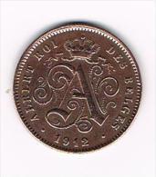 00  ALBERT I  - 2 CENTIEM 1912 FR - 1909-1934: Albert I