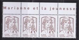 = Marianne Et La Jeunesse Gommées X 4 Faciale 0.10€, Haut De Feuille Ciappa Et Kawena N°4765 - 2013-... Marianne De Ciappa-Kawena