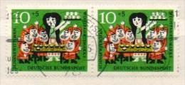 Deutschland 1962 Michel 386 2x Gestempelt - Märchen Schneewittchen - Wohlfahrt, Yvert Nr. 258 - BRD