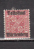WURTENBERG  *  YT  N° 105 - Wurttemberg