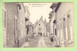 CHATILLON COLIGNY : Rue Saint Honoré. 2 Scans. Edition Chénet - Chatillon Coligny
