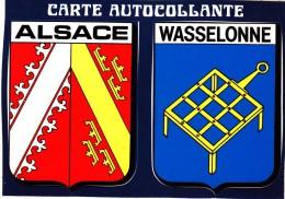 Carte Postale Autocollante, écusson Autocollant, Blason, Wasselonne - Wasselonne