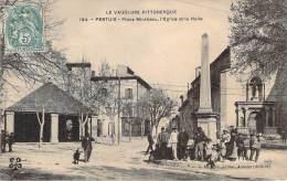 84 - Pertuis - Place Mirabeau, L'Eglise Et La Halle - Pertuis