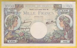 BILLET FRANCAIS - 1000 Francs Commerce Et Industrie 13.7.1944 NEUF - 1871-1952 Anciens Francs Circulés Au XXème