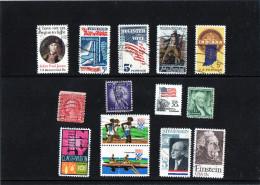 Stati Uniti - N. 14 Usati Differenti - Collezioni & Lotti