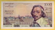 BILLET FRANCAIS - 1000 Francs Richelieu 2.4.1953 SUP * Alphabet 1 - 1871-1952 Anciens Francs Circulés Au XXème
