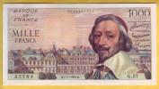 BILLET FRANCAIS - 1000 Francs Richelieu 1.7.1954 SPL - 1871-1952 Anciens Francs Circulés Au XXème