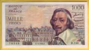 BILLET FRANCAIS - 1000 Francs Richelieu 7.4.1955 SUP+ - 1871-1952 Anciens Francs Circulés Au XXème